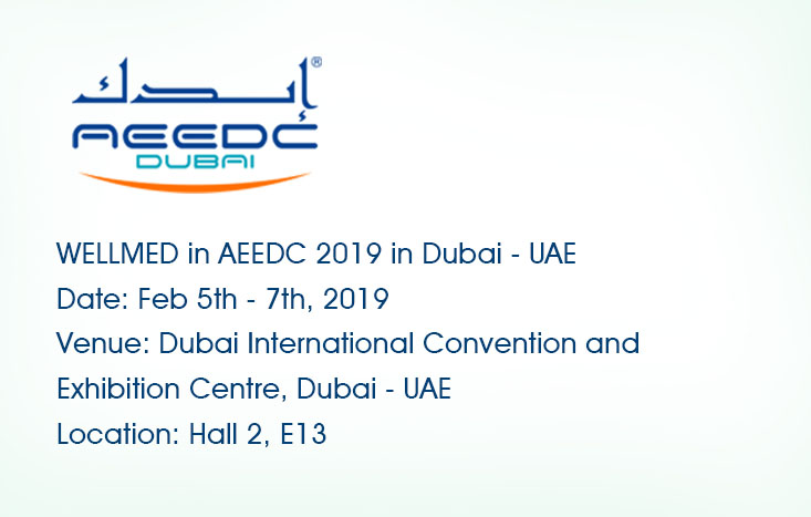 WELLMED in AEEDC  2019 in Dubai - UAE